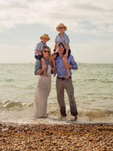 Summer beach family photo session Portsmouth